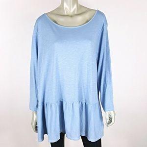 Plus Size 3X Drop Waist Soft Stretch Pullover Top
